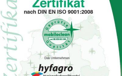 Mobiloclean Zertifizierung